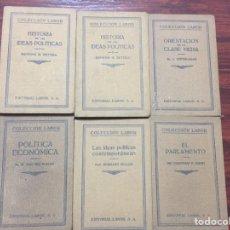 Libros antiguos: 6 LIBROS ANTIGUOS DE LA COLECCIÓN LABOR. AÑOS 20. Lote 77076833