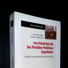 Libros antiguos: LOS ESTATUTOS DE LOS PARTIDOS POLITICOS ESPAÑOLES / JOAN OLIVER ARAUJO Y VICENTE J. CALAFELL FERRA. Lote 77420181