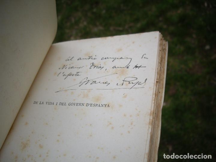 Libros antiguos: J.Vallès i Pujals: DE LA VIDA I DEL GOVERN D'ESPANYA, 1923 , dedicat i signat - Foto 3 - 78527433