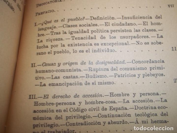 Libros antiguos: ANSELMO LORENZO.EL PUEBLO.ESTUDIO LIBERTARIO.SEMPERE 1909.ANARQUISMO.CNT. - Foto 6 - 80898383