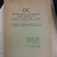 Libros antiguos: HOS. REVISTA DE LA RENISSENÇA DELS PAISES D'OC. OC. SOCIETAT ESTUDIS OCCITANS TOLOSA. 1932.N 1. Lote 83382356