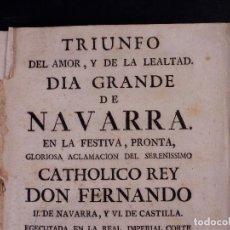Libros antiguos: DÍA GRANDE DE NAVARRA 1746. Lote 89576740