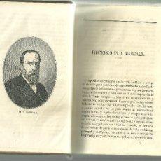 Libros antiguos: 3405.-ANUARIO REPUBLICANO FEDERAL-CASTELAR-PI MARGALL-ROQUE BARCIA-CANTAR DE LOS CANTARES. Lote 109237720