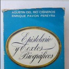 Libros antiguos: JOSE ANTONIO INTIMO. EPISTOLARIO Y TEXTOS BIOGRÁFICOS. 1968. Lote 93185010