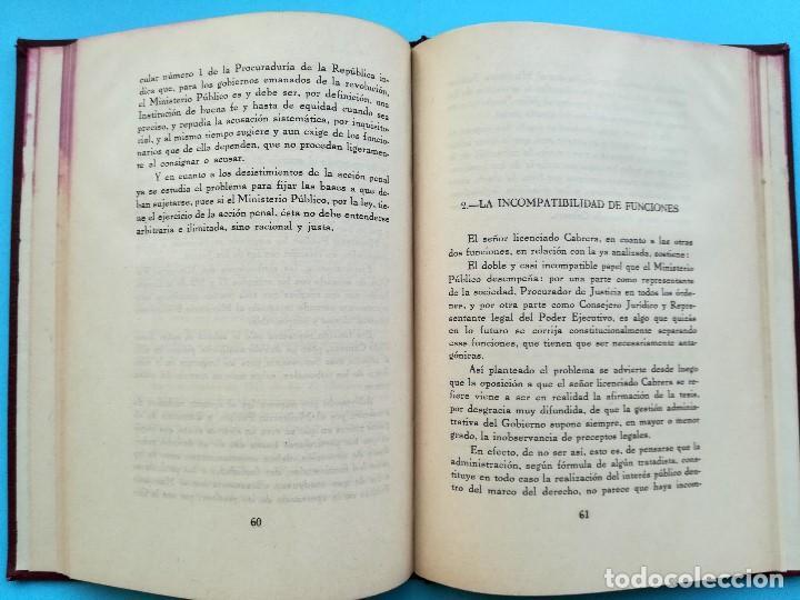 Libros antiguos: LIBRO,LA MISION CONSTITUCIONAL DEL PROCURADOR,AÑO 1932,FIRMA PRESIDENTE DE MEXICO EMILIO PORTES GIL - Foto 4 - 94537675