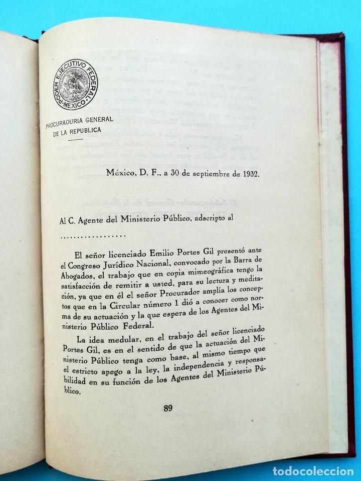 Libros antiguos: LIBRO,LA MISION CONSTITUCIONAL DEL PROCURADOR,AÑO 1932,FIRMA PRESIDENTE DE MEXICO EMILIO PORTES GIL - Foto 5 - 94537675