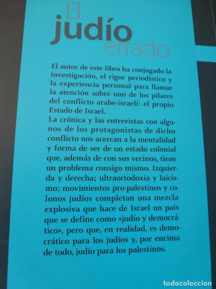 Libros antiguos: EL JUDÍO ERRADO. ALBERTO PRADILLA. EDITORIAL TXALAPARTA - Foto 2 - 95540995