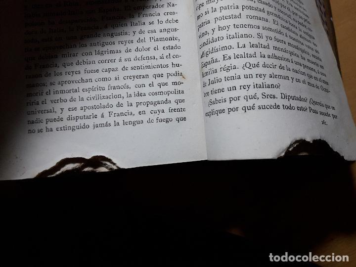 Libros antiguos: Discursos Parlamentarios de Emilio Castelar en la Asamblea constituyente Tomo I,II y III 1873- 411 - Foto 7 - 99896523