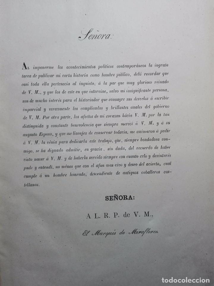 Libros antiguos: VIDA POLÍTICA DEL MARQUES DE MIRAFLORES ESCRITA POR EL MISMO - MADRID - 1865 - - Foto 4 - 101319907