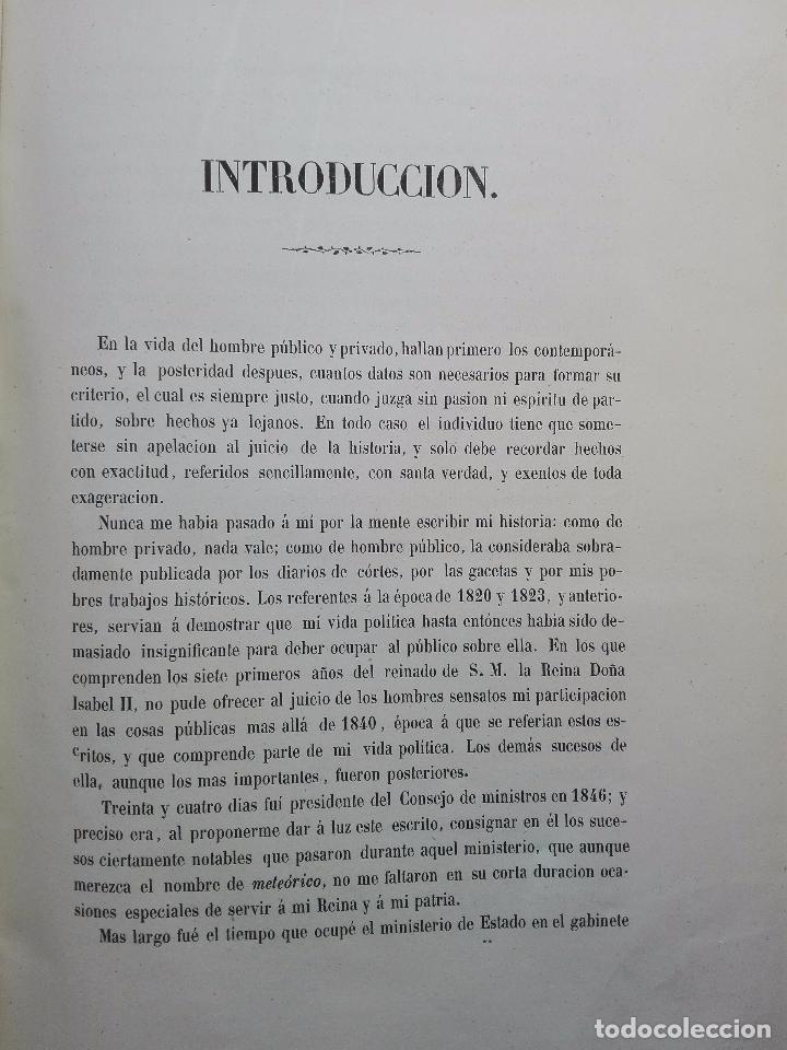 Libros antiguos: VIDA POLÍTICA DEL MARQUES DE MIRAFLORES ESCRITA POR EL MISMO - MADRID - 1865 - - Foto 5 - 101319907