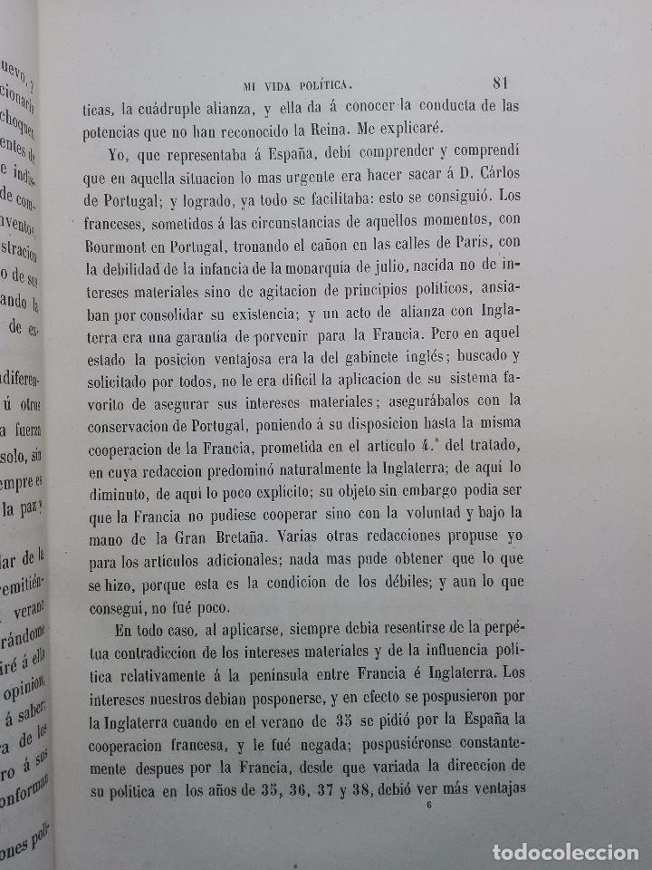 Libros antiguos: VIDA POLÍTICA DEL MARQUES DE MIRAFLORES ESCRITA POR EL MISMO - MADRID - 1865 - - Foto 6 - 101319907