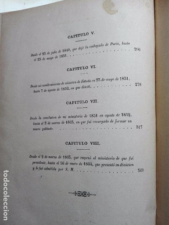 Libros antiguos: VIDA POLÍTICA DEL MARQUES DE MIRAFLORES ESCRITA POR EL MISMO - MADRID - 1865 - - Foto 9 - 101319907