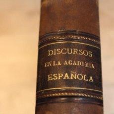 Libros antiguos: DISCURSOS LEÍDOS ANTE LA REAL ACADEMIA ESPAÑOLA EN LA RECEPCIÓN DESDE 1857 A 1878. TODOS EN 1 TOMO. Lote 101691371