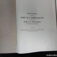 Libri antichi: DISCURSOS DE RECEPCIÓN DEL EXCMO. SR. D FERMÍN CALBETÓN Y DE CONTESTACIÓN DEL EXCMO. SR. D AMÓS SALV. Lote 102053179