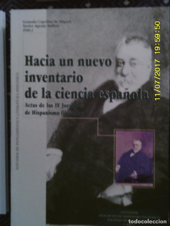 LIBRO Nº 1185 HACIA UN NUEVO INVENTQARIO DE LA CIENCIA ESPAÑOLA DE GONZALO CAPELLAN DE MIGUEL (Libros Antiguos, Raros y Curiosos - Pensamiento - Política)