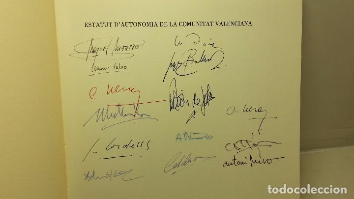 Libros antiguos: Estatut d'Autonomia de la Comunitat Valenciana.firmas. - Foto 2 - 103936787