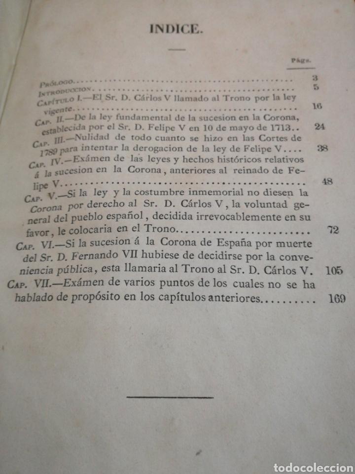 Libros antiguos: CARLISMO: LA CUESTIÓN DINÁSTICA, FRAY MAGIN FERRER - LIBRO RARO, NO PUBLICADO HASTA 1869 - Foto 5 - 106093988