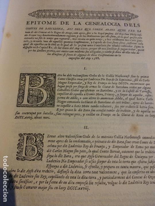 Libros antiguos: HOS. CONSTITUCIONS DE CATALUNYA. VOLUM PRIMER. 1704. JOAN PAU MARTI I JOSEP LLOPIS, BARCELONA. - Foto 3 - 107264859