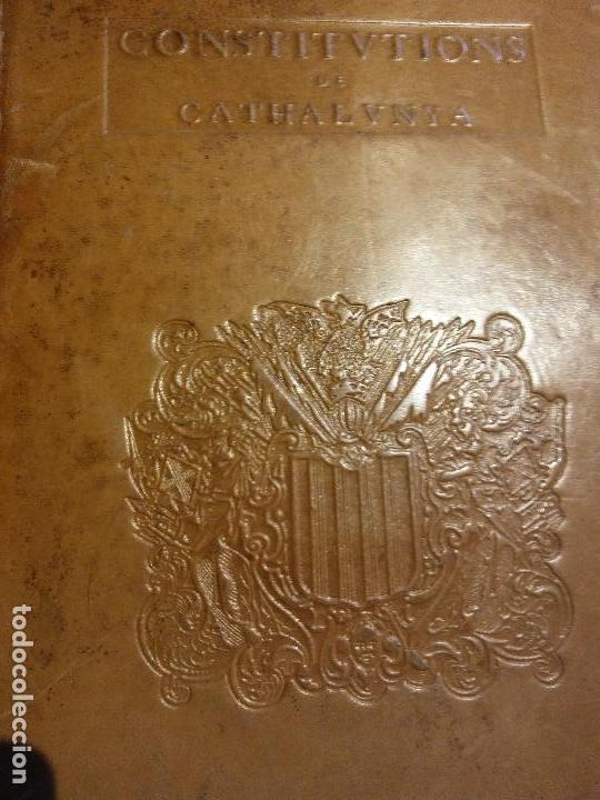 Libros antiguos: HOS. CONSTITUCIONS DE CATALUNYA. VOLUM PRIMER. 1704. JOAN PAU MARTI I JOSEP LLOPIS, BARCELONA. - Foto 4 - 107264859