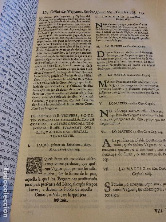 Libros antiguos: HOS. CONSTITUCIONS DE CATALUNYA. VOLUM PRIMER. 1704. JOAN PAU MARTI I JOSEP LLOPIS, BARCELONA. - Foto 9 - 107264859