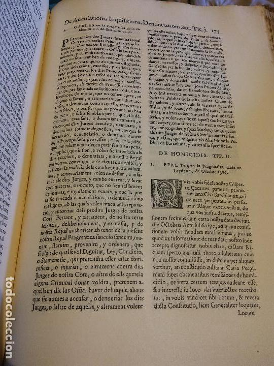 Libros antiguos: HOS. CONSTITUCIONS DE CATALUNYA. VOLUM PRIMER. 1704. JOAN PAU MARTI I JOSEP LLOPIS, BARCELONA. - Foto 10 - 107264859