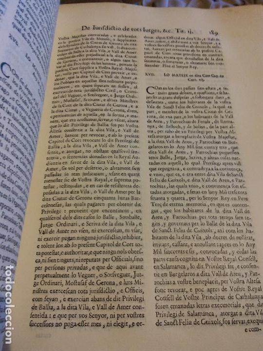 Libros antiguos: HOS. CONSTITUCIONS DE CATALUNYA. VOLUM PRIMER. 1704. JOAN PAU MARTI I JOSEP LLOPIS, BARCELONA. - Foto 11 - 107264859