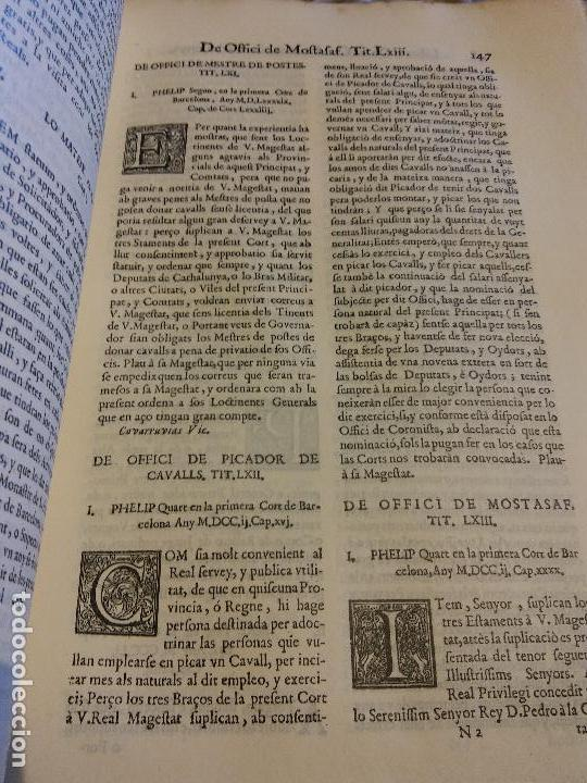 Libros antiguos: HOS. CONSTITUCIONS DE CATALUNYA. VOLUM PRIMER. 1704. JOAN PAU MARTI I JOSEP LLOPIS, BARCELONA. - Foto 13 - 107264859
