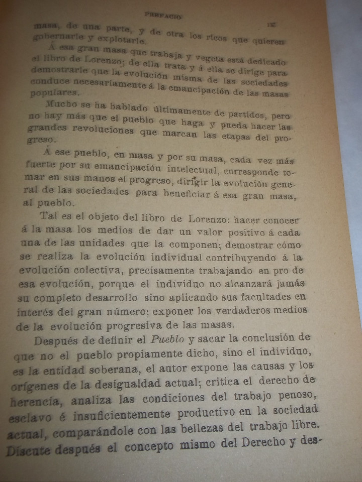 Libros antiguos: ANSELMO LORENZO.EL PUEBLO.ESTUDIO LIBERTARIO.SEMPERE 1909.ANARQUISMO.CNT. - Foto 13 - 80898383