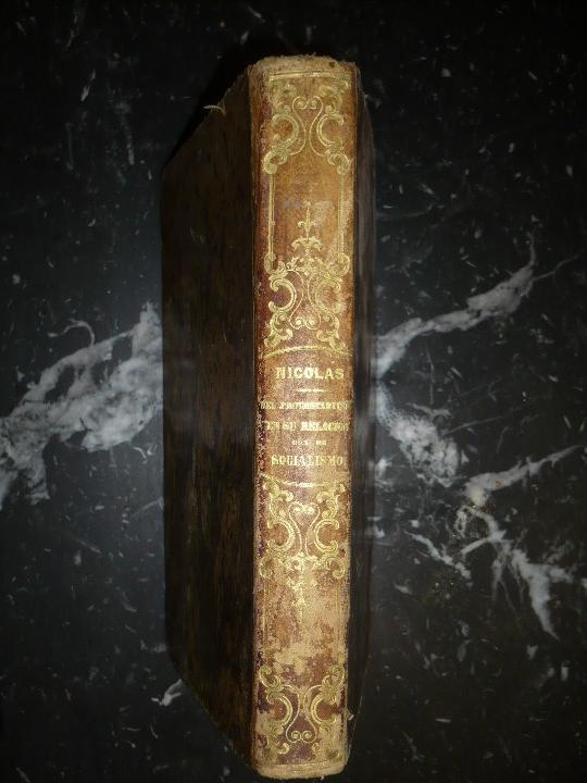 DEL PROTESTANTISMO Y DE TODAS LAS HEREJIAS AUGUSTO.NICOLAS 1853 BARCELONA (Libros Antiguos, Raros y Curiosos - Pensamiento - Política)
