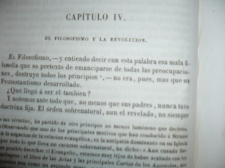 Libros antiguos: DEL PROTESTANTISMO Y DE TODAS LAS HEREJIAS AUGUSTO.NICOLAS 1853 BARCELONA - Foto 6 - 107616455