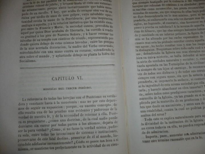 Libros antiguos: DEL PROTESTANTISMO Y DE TODAS LAS HEREJIAS AUGUSTO.NICOLAS 1853 BARCELONA - Foto 7 - 107616455