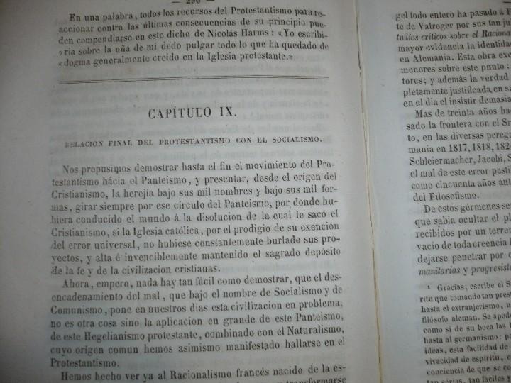 Libros antiguos: DEL PROTESTANTISMO Y DE TODAS LAS HEREJIAS AUGUSTO.NICOLAS 1853 BARCELONA - Foto 8 - 107616455