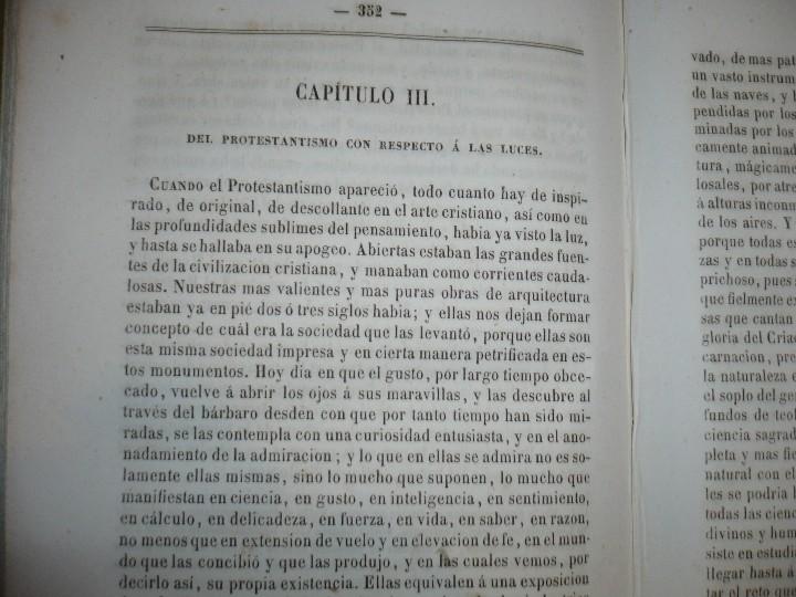 Libros antiguos: DEL PROTESTANTISMO Y DE TODAS LAS HEREJIAS AUGUSTO.NICOLAS 1853 BARCELONA - Foto 5 - 107616455