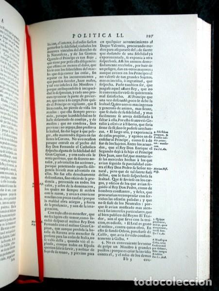 Libros antiguos: EMPRESAS POLITICAS - SAAVEDRA FAJARDO - EDICION LIMITADA Y NUMERADA - TAURUS 1967 - Foto 12 - 110746747