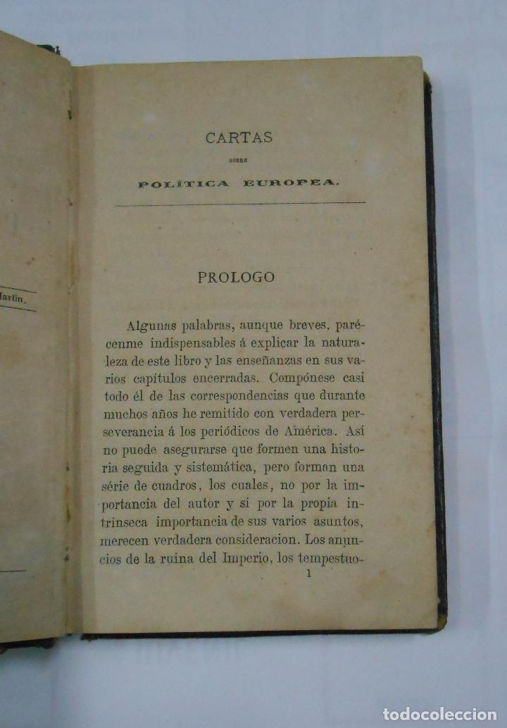 Libros antiguos: Cartas sobre Política Europea. Emilio Castelar. 2 TOMOS. VOLUMEN I Y II. TDK196 - Foto 4 - 112696311