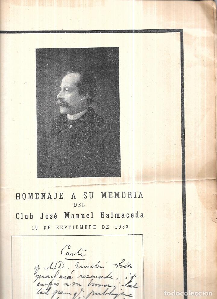 Libros antiguos: TESTAMENTO POLITICO DEL EXMO. SR.JOSE MANUEL BALMACEDA.19 DE JULIO DE 1840- 19 DE SEPTIEMBRE DE 1891 - Foto 2 - 112853363