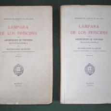 Libros antiguos: ABUBEQUER DE TORTOSA: LAMPARA DE LOS PRINCIPES (2 VOLS.) EDICION LIMITADA. Lote 39835112