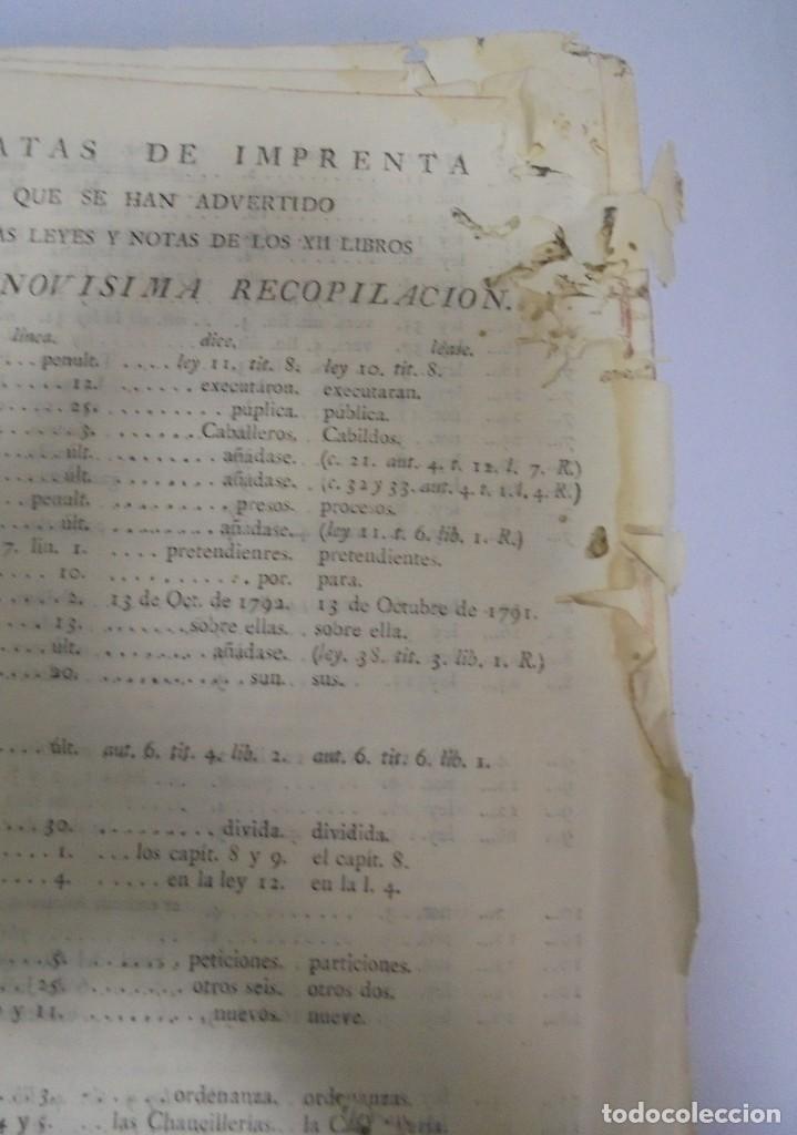 Libros antiguos: NOVISIMA RECOPILACION DE LAS LEYES DE ESPAÑA. TOMO VI. MADRID 1807. LEER - Foto 4 - 113053155