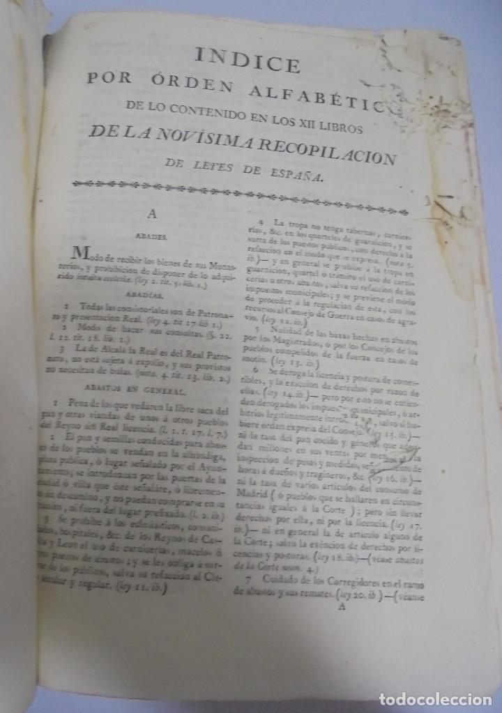 Libros antiguos: NOVISIMA RECOPILACION DE LAS LEYES DE ESPAÑA. TOMO VI. MADRID 1807. LEER - Foto 5 - 113053155