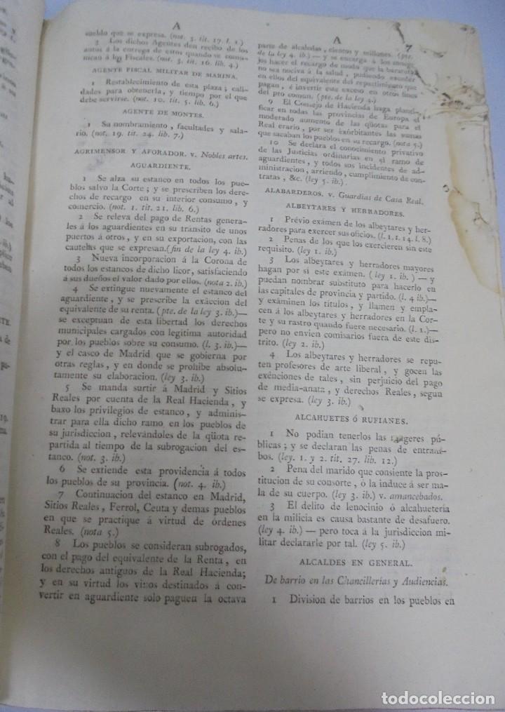 Libros antiguos: NOVISIMA RECOPILACION DE LAS LEYES DE ESPAÑA. TOMO VI. MADRID 1807. LEER - Foto 6 - 113053155