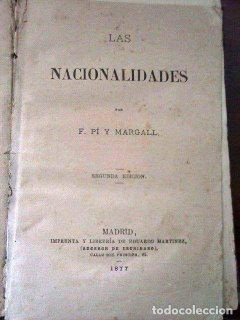 Libros antiguos: LAS NACIONALIDADES. PI Y MARGALL 1877 - Foto 2 - 113447743