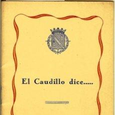 Libros antiguos: 1949 DISCURSO DEL JEFE DEL ESTADO. Lote 114100715