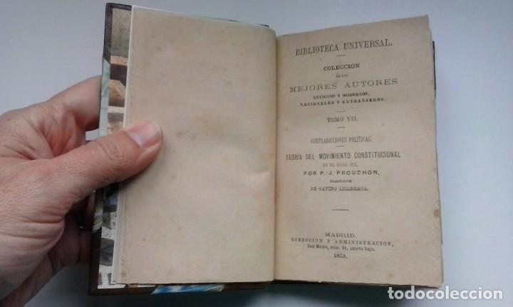 Libros antiguos: Contradicciones políticas: teoría del movimiento constitucional en el siglo XIX (1873) / Proudhon. - Foto 6 - 114455655