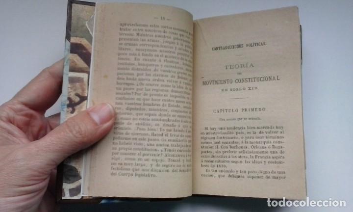 Libros antiguos: Contradicciones políticas: teoría del movimiento constitucional en el siglo XIX (1873) / Proudhon. - Foto 7 - 114455655