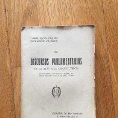 Libros antiguos: DISCURSOS PARLAMENTARIOS EN LA ASAMBLEA CONSTITUYENTE, OBRAS ESCOGIDAS DE CASTELAR, XI TOMO 2. Lote 116178967