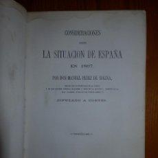 Libros antiguos: LLIBRO - LA SITUACIÓN DE ESPAÑA EN 1867 - MANUEL PÉREZ DE MOLINA - DIPUTADO A CORTES -POLÍTICA, RARO. Lote 116396291