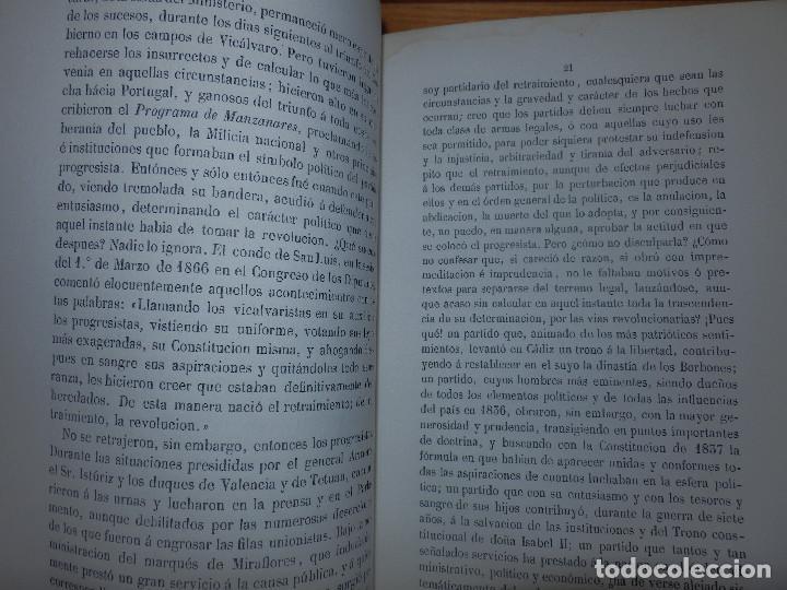 Libros antiguos: Llibro - La situación de España en 1867 - Manuel Pérez de Molina - Diputado a Cortes -Política, Raro - Foto 3 - 116396291