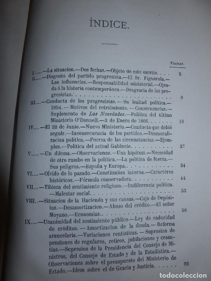 Libros antiguos: Llibro - La situación de España en 1867 - Manuel Pérez de Molina - Diputado a Cortes -Política, Raro - Foto 4 - 116396291