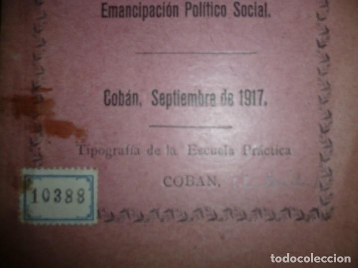 Libros antiguos: DISCURSO Y CONFERENCIA J.M.EDUARDO PORTOCARRERO 1917 COBAN -GUATEMALA - Foto 3 - 120693771