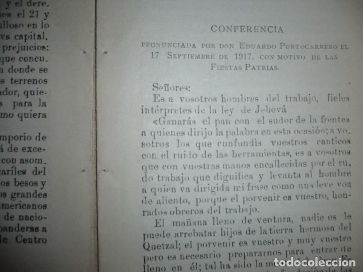 Libros antiguos: DISCURSO Y CONFERENCIA J.M.EDUARDO PORTOCARRERO 1917 COBAN -GUATEMALA - Foto 5 - 120693771